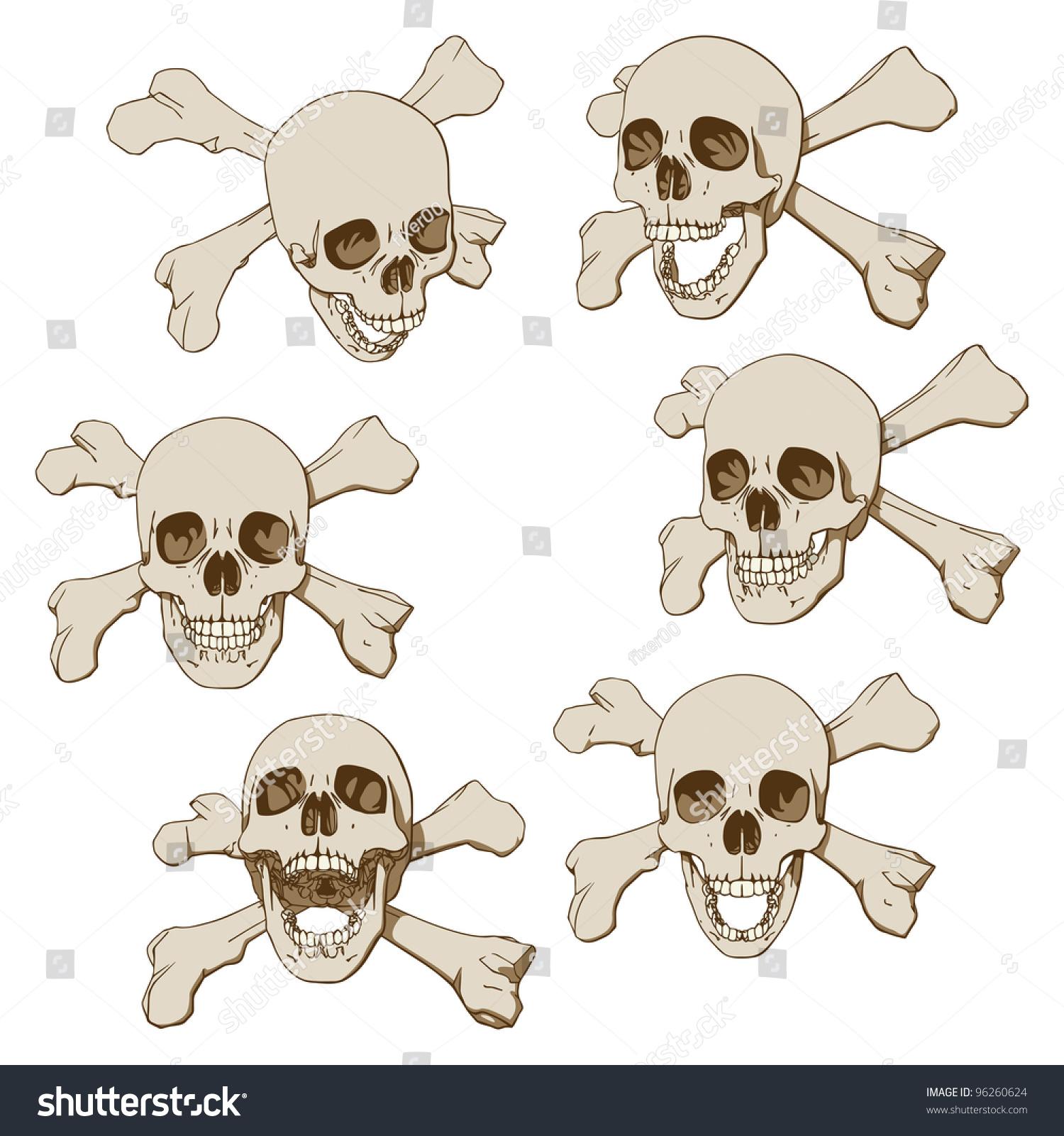 组六图纸类腿骨和v图纸图纸的头骨。矢量图-人cad尺寸个人住压标注图片