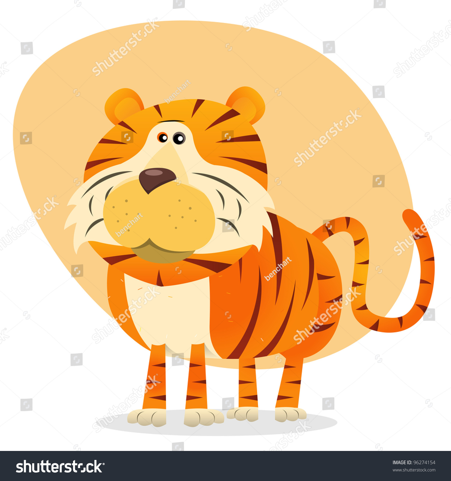 cartoon tiger illustration cartoon bengal tiger stock illustration