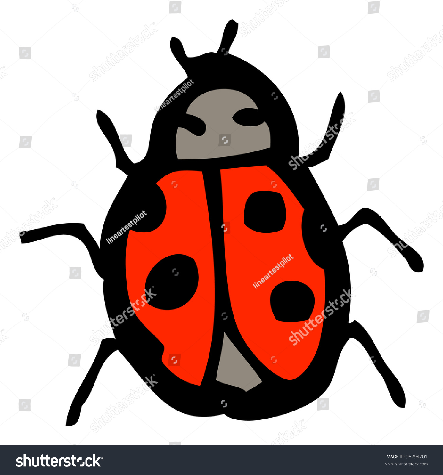 Stock Photo Cartoon Ladybird