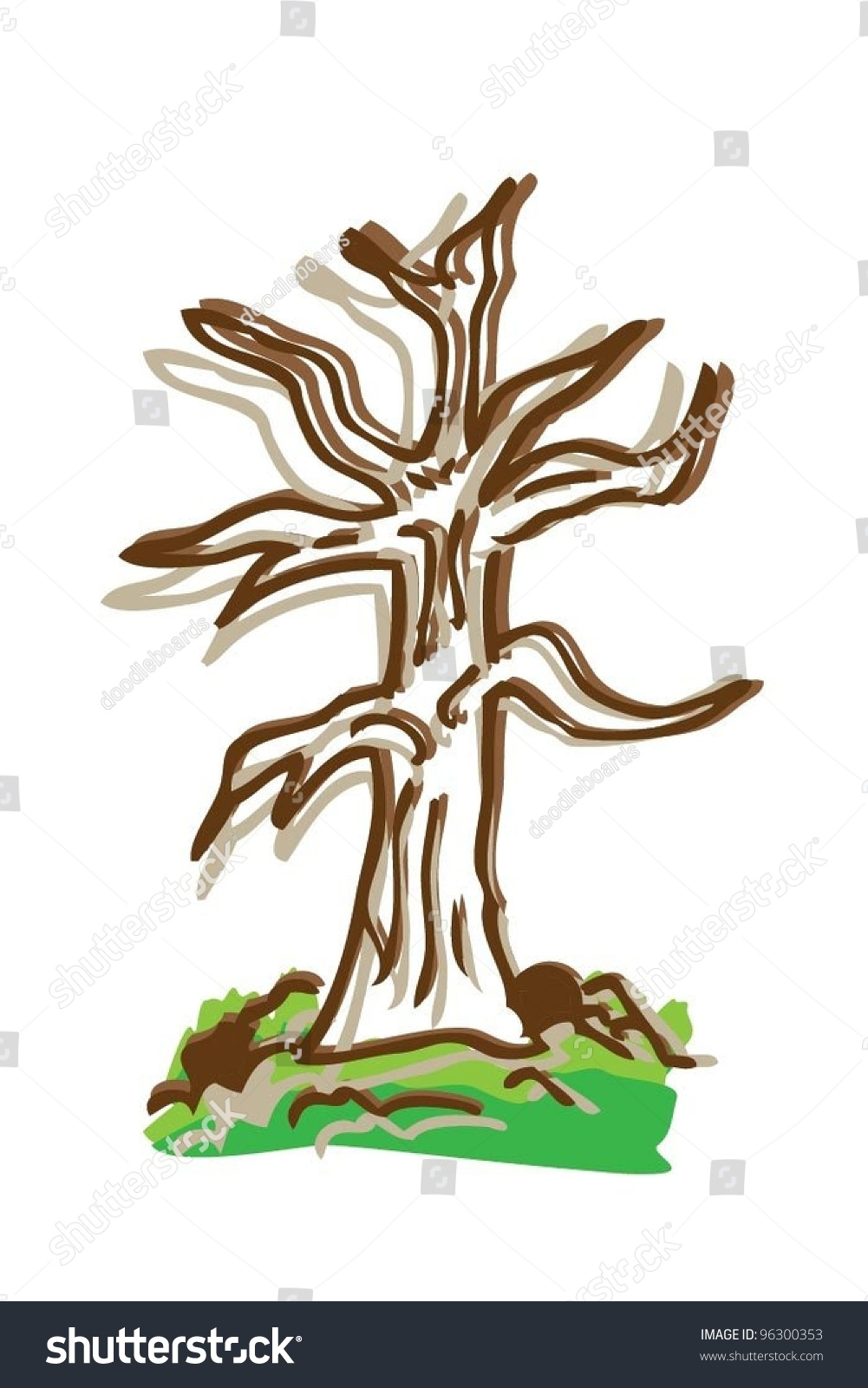 Cartoon Drawing Tree Color Vector Illustration Stock Vector Royalty Free 96300353 Finished drawing of cartoon trees. https www shutterstock com image vector cartoon drawing tree color vector illustration 96300353