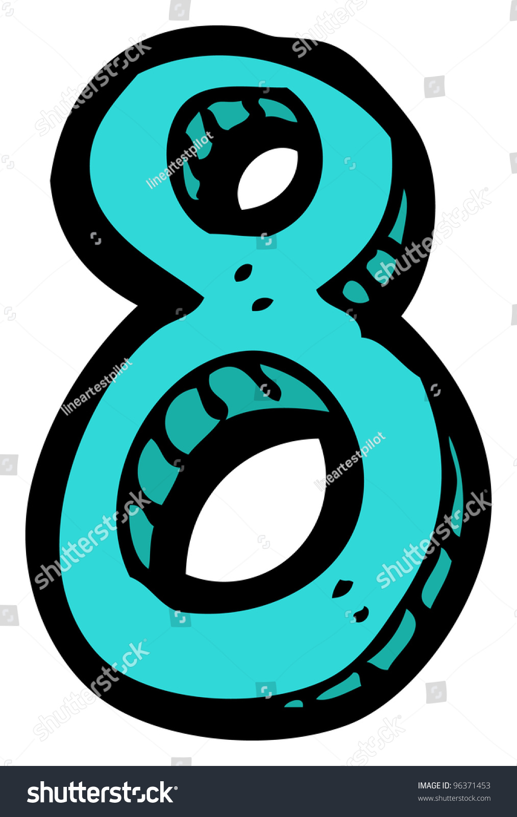 Stock Photo Cartoon Number on Create A Number Line
