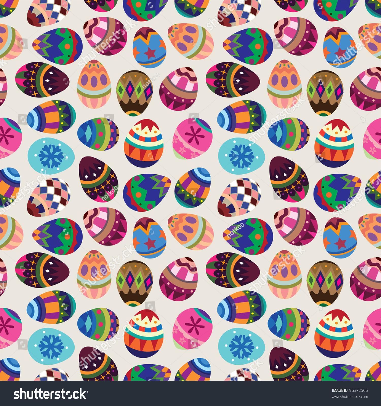 Seamless Easter Egg Pattern Stock Vector 96372566 - Shutterstock