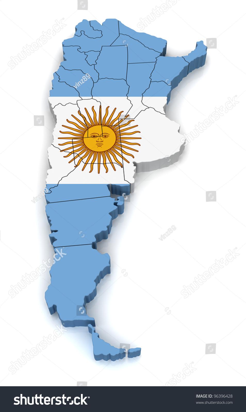 D Map Argentina Stock Illustration Shutterstock - Argentina 3d map