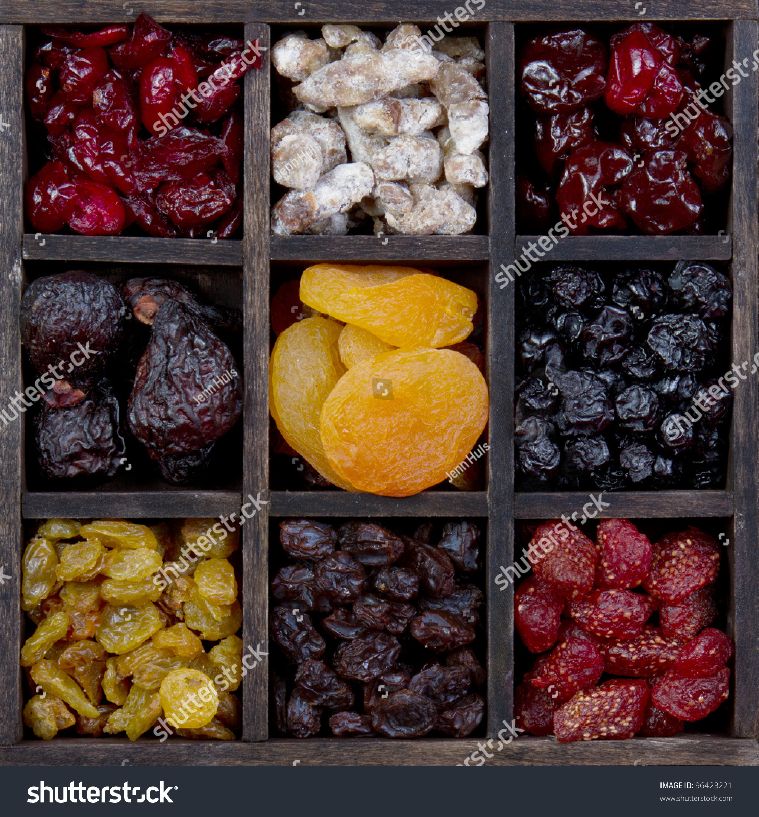 dried-fruit-in-a-printers-box-figs-cherries-raisins-strawberries-figs ...