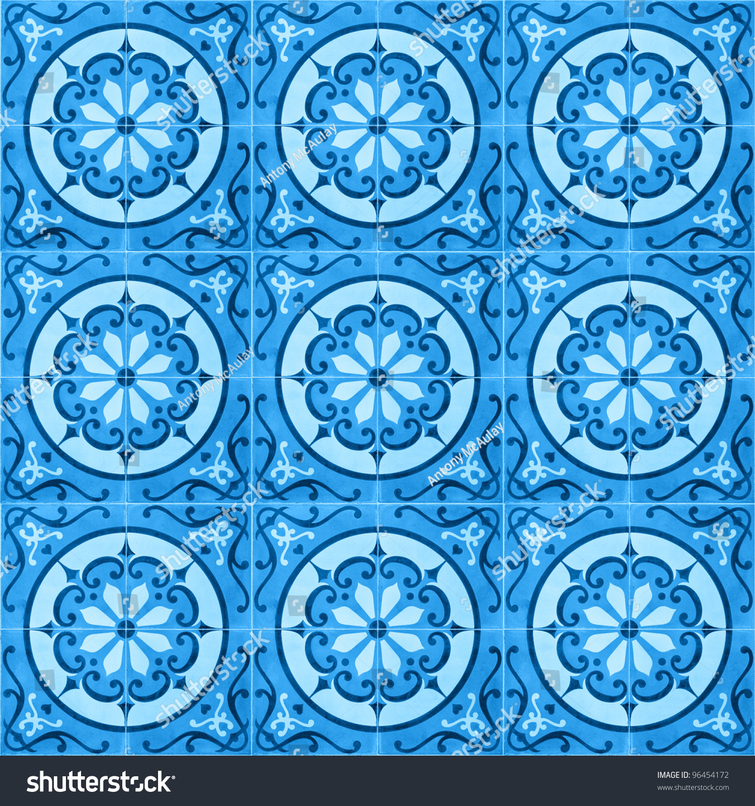 Seamless Background Image Patterned Ceramic Tiles Stock Photo ...