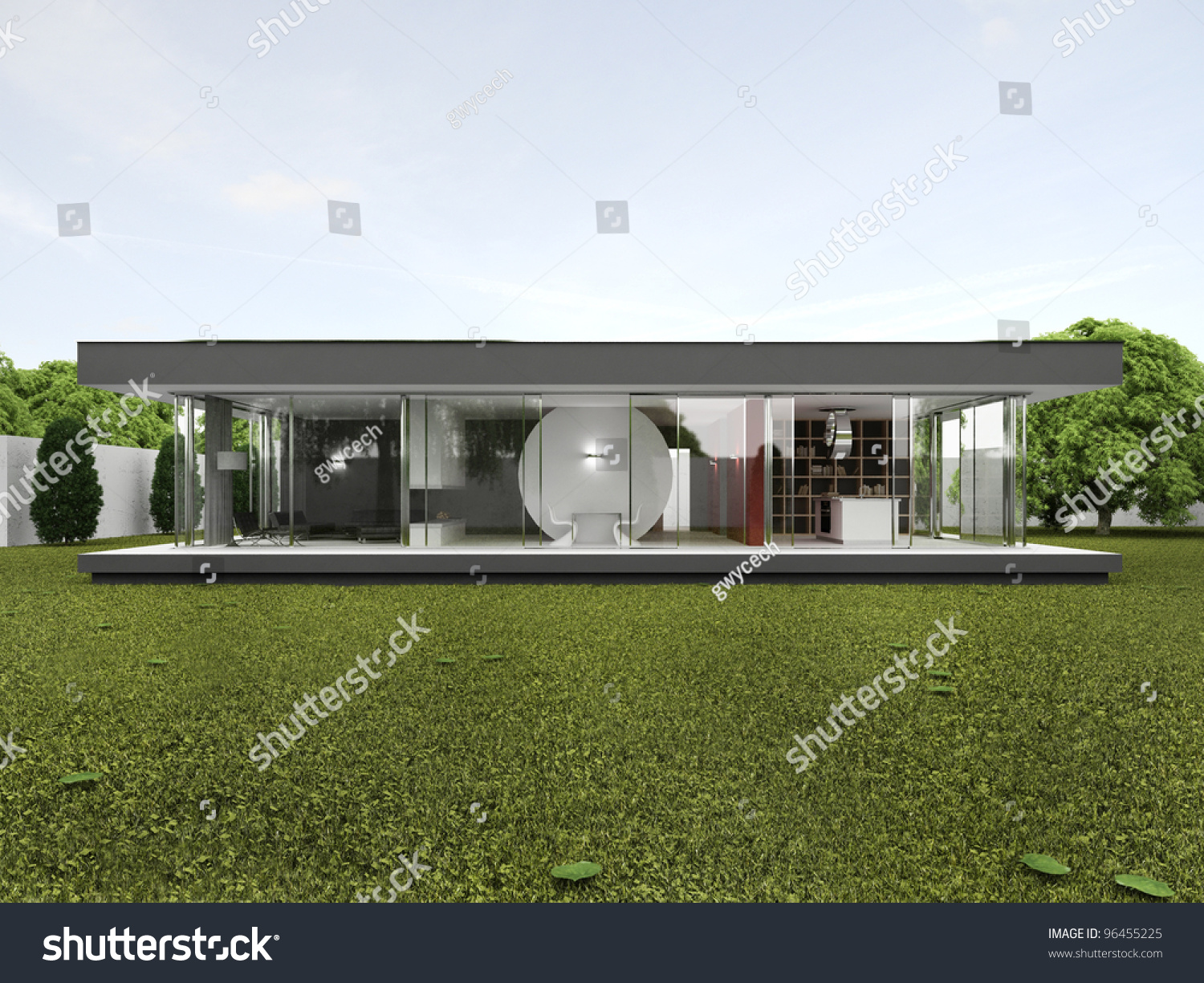 Backyard Of Very Modern House - Bungalow Design, rchitecture ... - ^