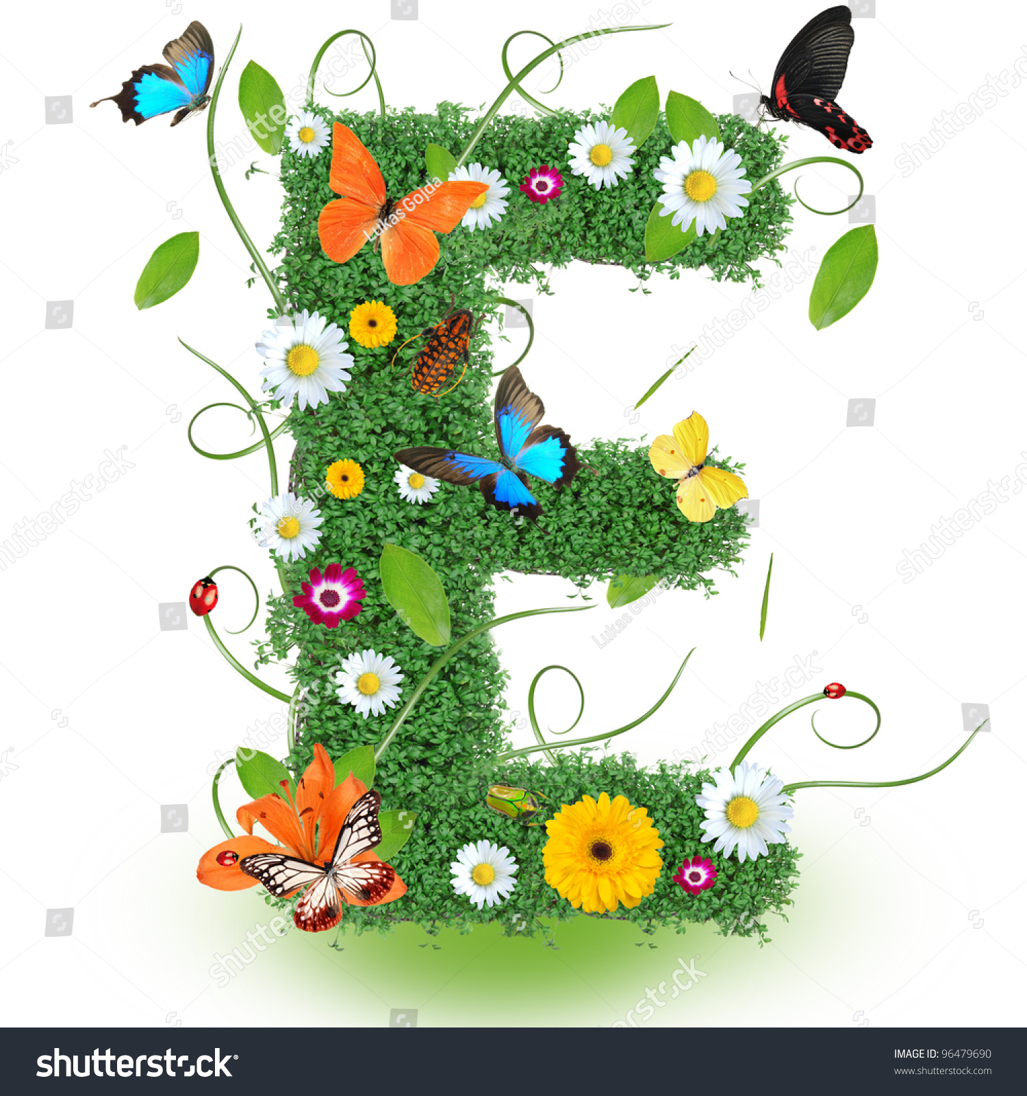 Beautiful Spring Letter E Stock Photo 96479690 - Shutterstock