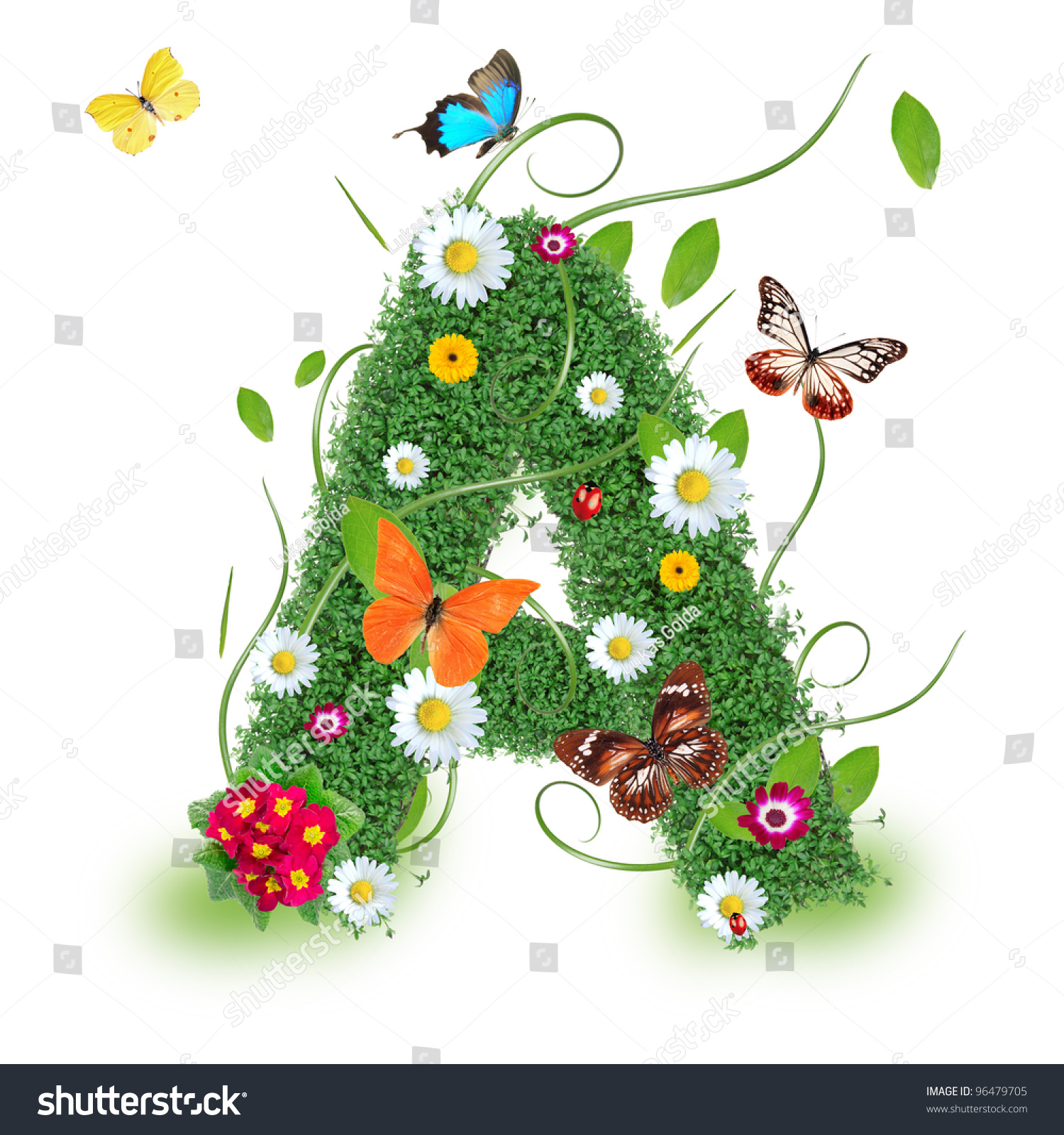Beautiful Spring Letter A Stock Photo 96479705 - Shutterstock