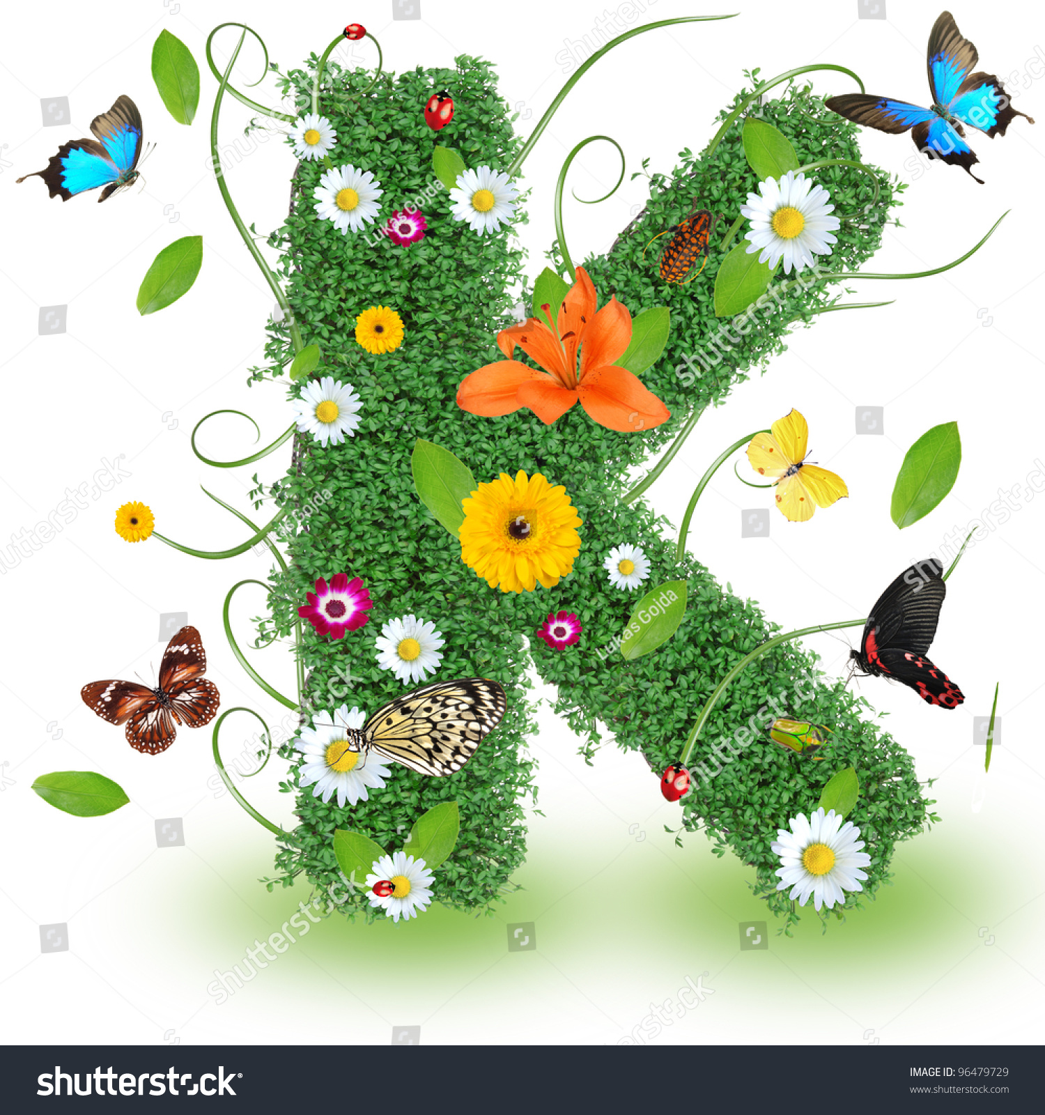 Beautiful Spring Letter K Stock Photo 96479729 - Shutterstock