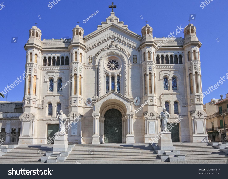 Fotografi A Reggio Calabria cathedral reggio calabria stok fotoğrafı (Şimdi düzenle