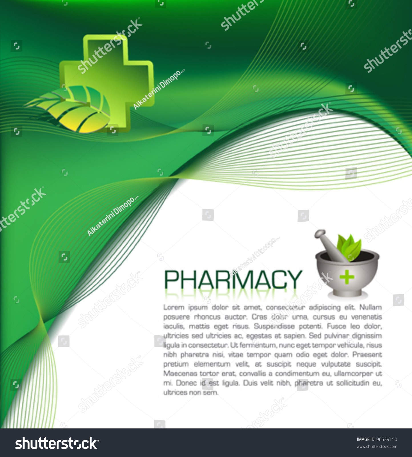 Pharmacy Brochure Template Stock Vector Royalty Free 96529150