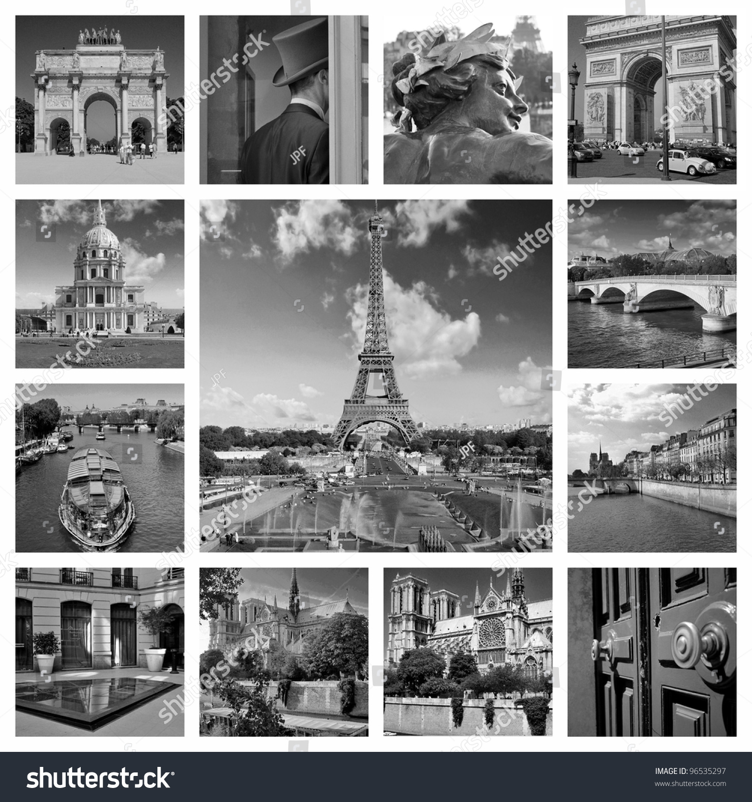 Beautiful Black And White Photos Of The Eiffel Tower In Paris Other Famous Places