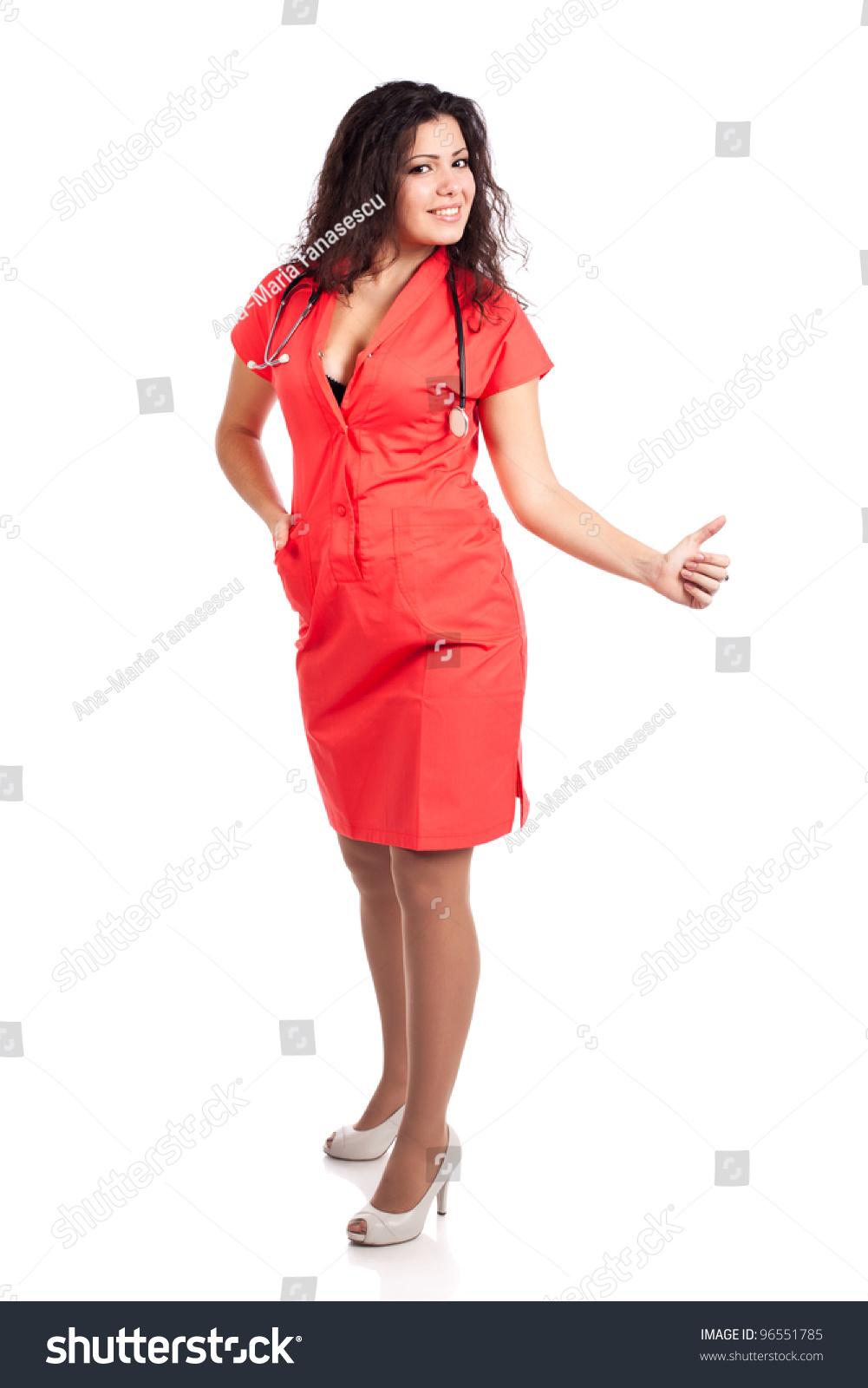 Sexy Happy Young Nurse Medical Woman Stock Photo 96551785 -2184