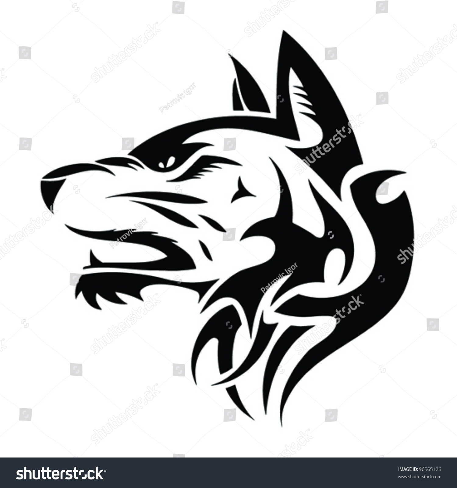 Tribal German Shepherd Tattoo Shepard Stock Vectors amp Vector