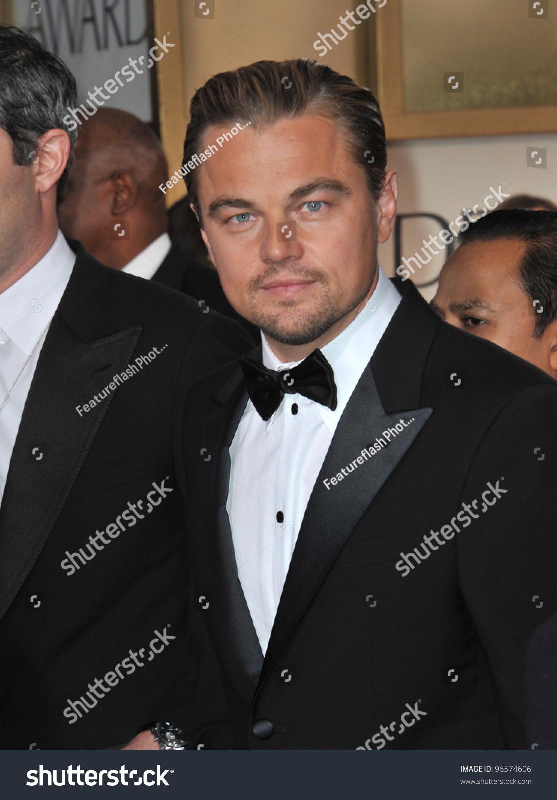 Leonardo Dicaprio At The 69th Golden Globe Awards Beverly Hilton Hotel January 15