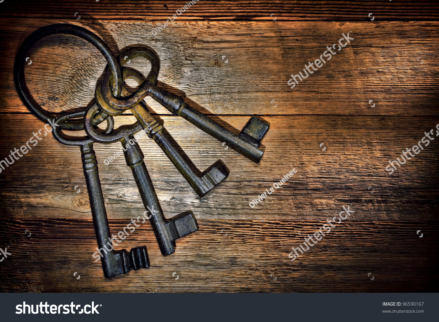 Antique and rusty medieval castle skeleton door keys with old corroded metal ring on antique weathered & Antique Rusty Medieval Castle Skeleton Door Stock Photo 96590167 ... pezcame.com