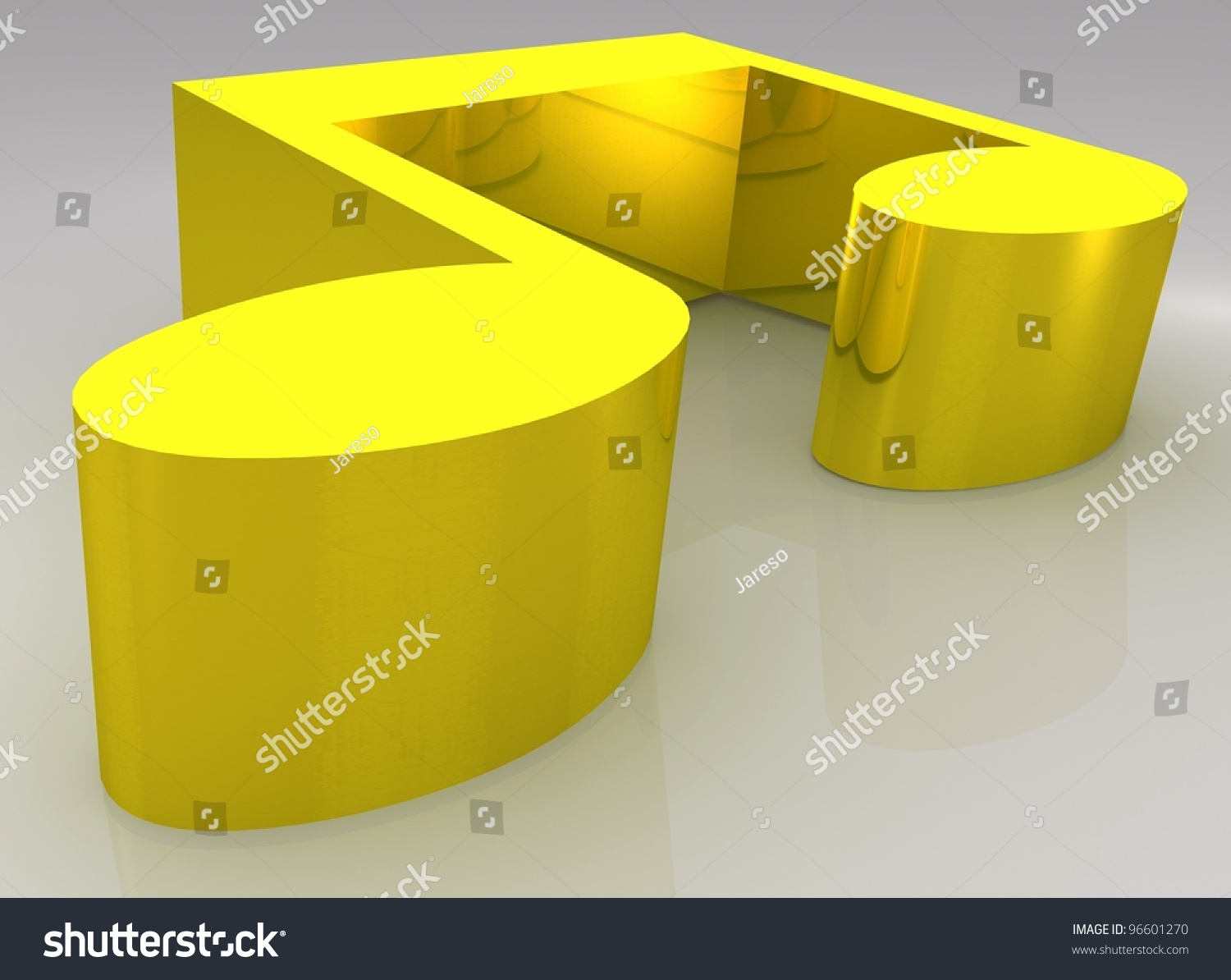 Concept music symbol double whole note stock illustration 96601270 symbol of double whole note breve rendered in golden biocorpaavc Gallery