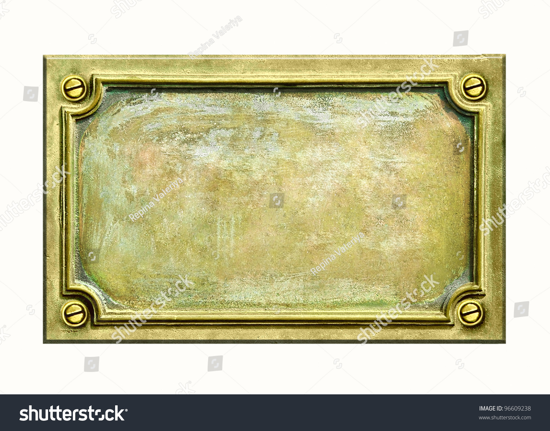 metal sign plate frame grunge texture stock photo 96609238 shutterstock. Black Bedroom Furniture Sets. Home Design Ideas