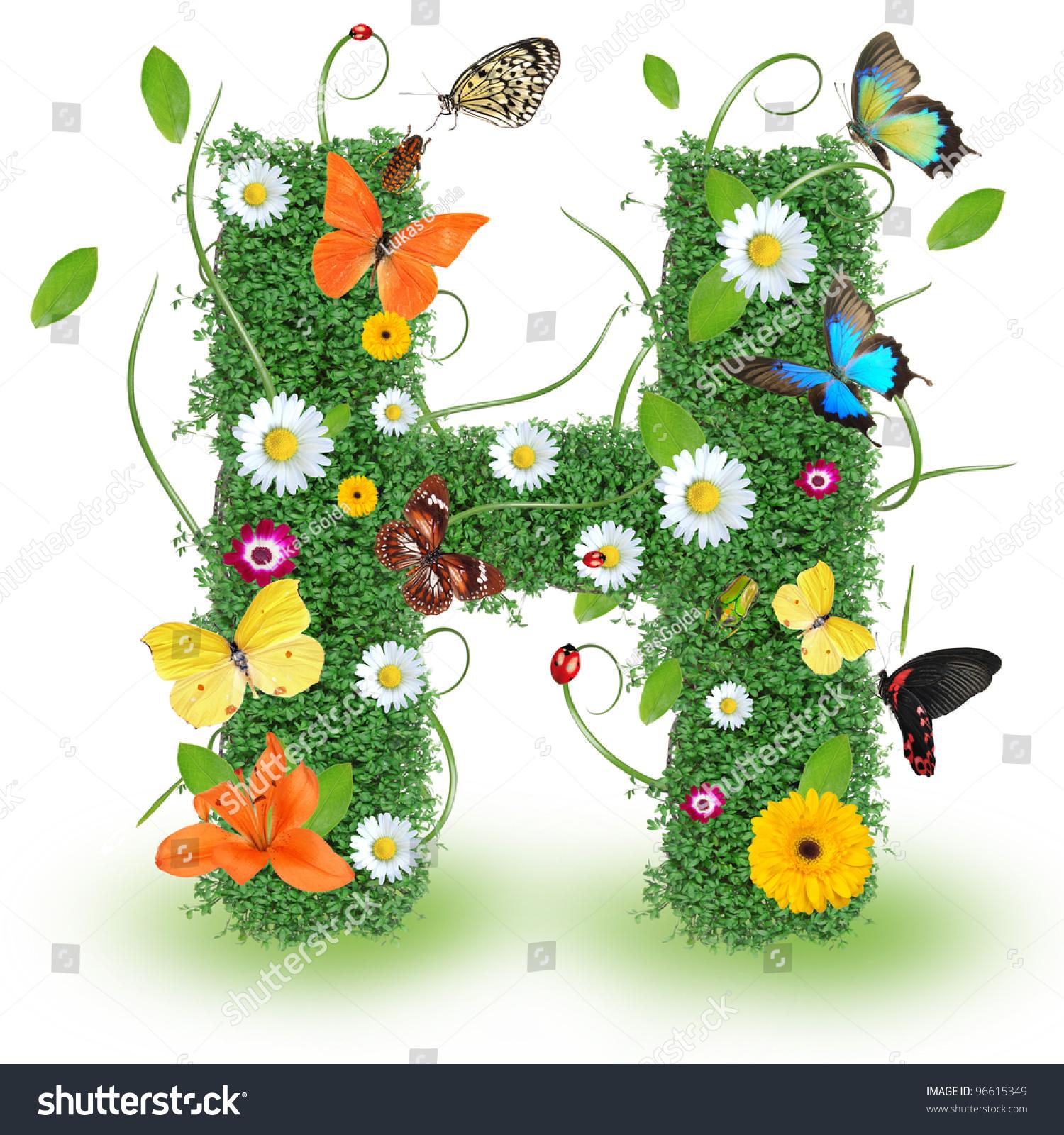 beautiful spring letter h stock photo 96615349 shutterstock. Black Bedroom Furniture Sets. Home Design Ideas