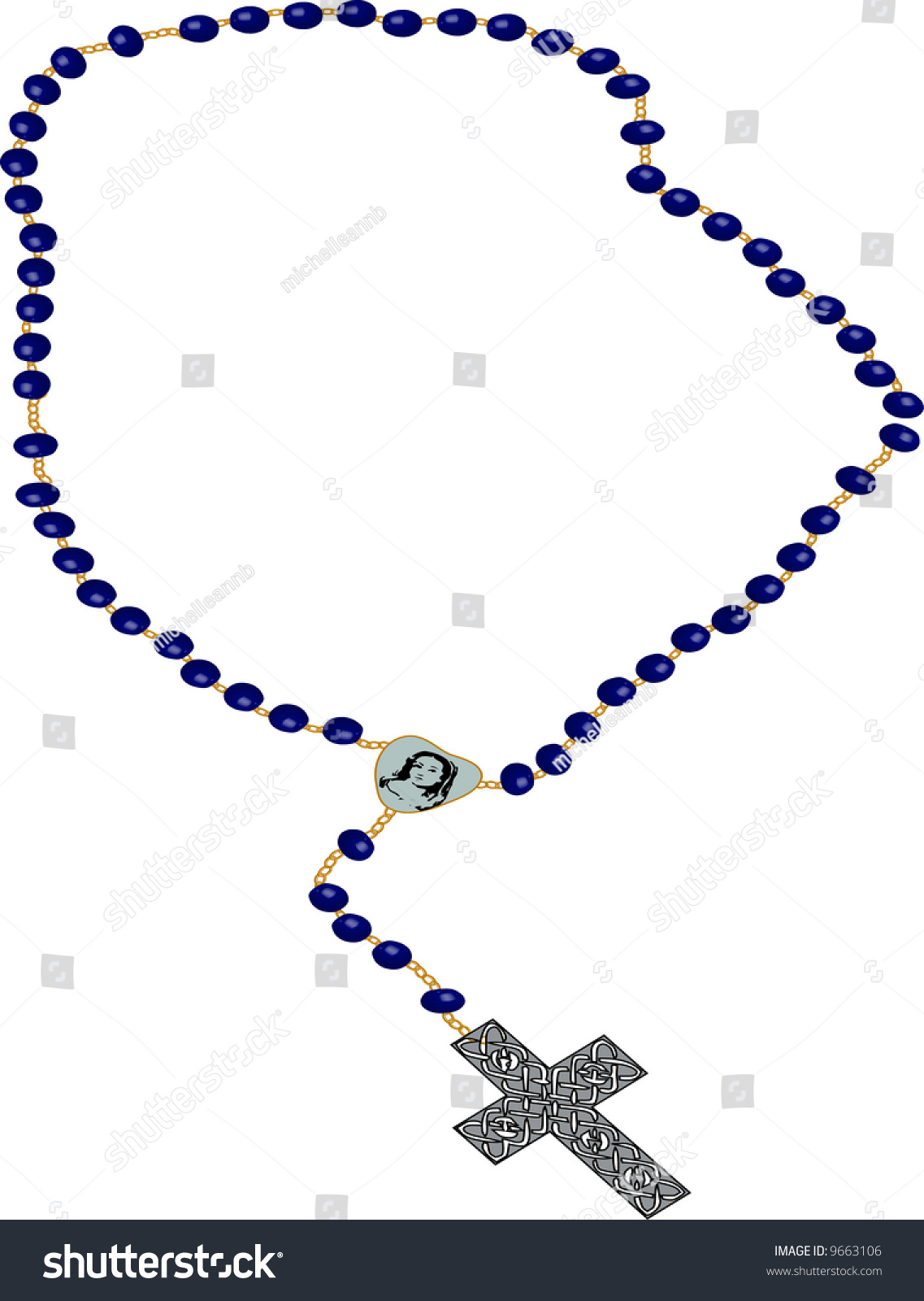 rosary clipart illustration on white background stock illustration rh shutterstock com rosary border clipart holy rosary clipart