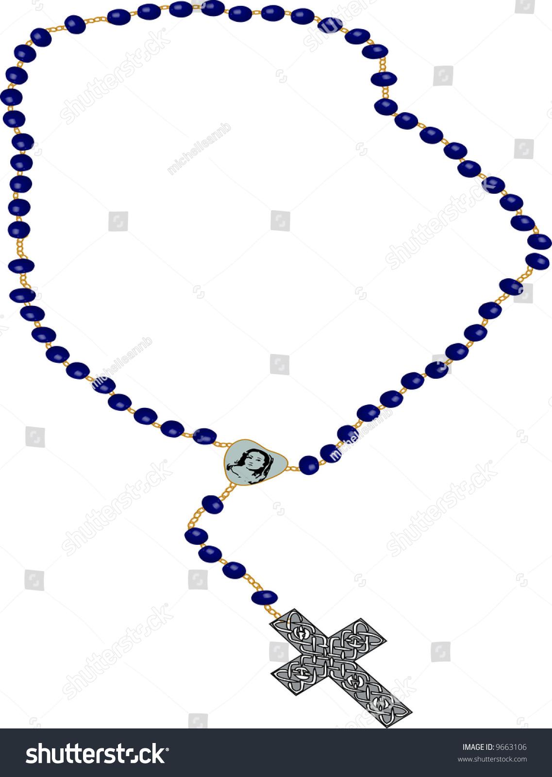 rosary clipart illustration on white background stock illustration rh shutterstock com rosary clipart free download rosary clipart png