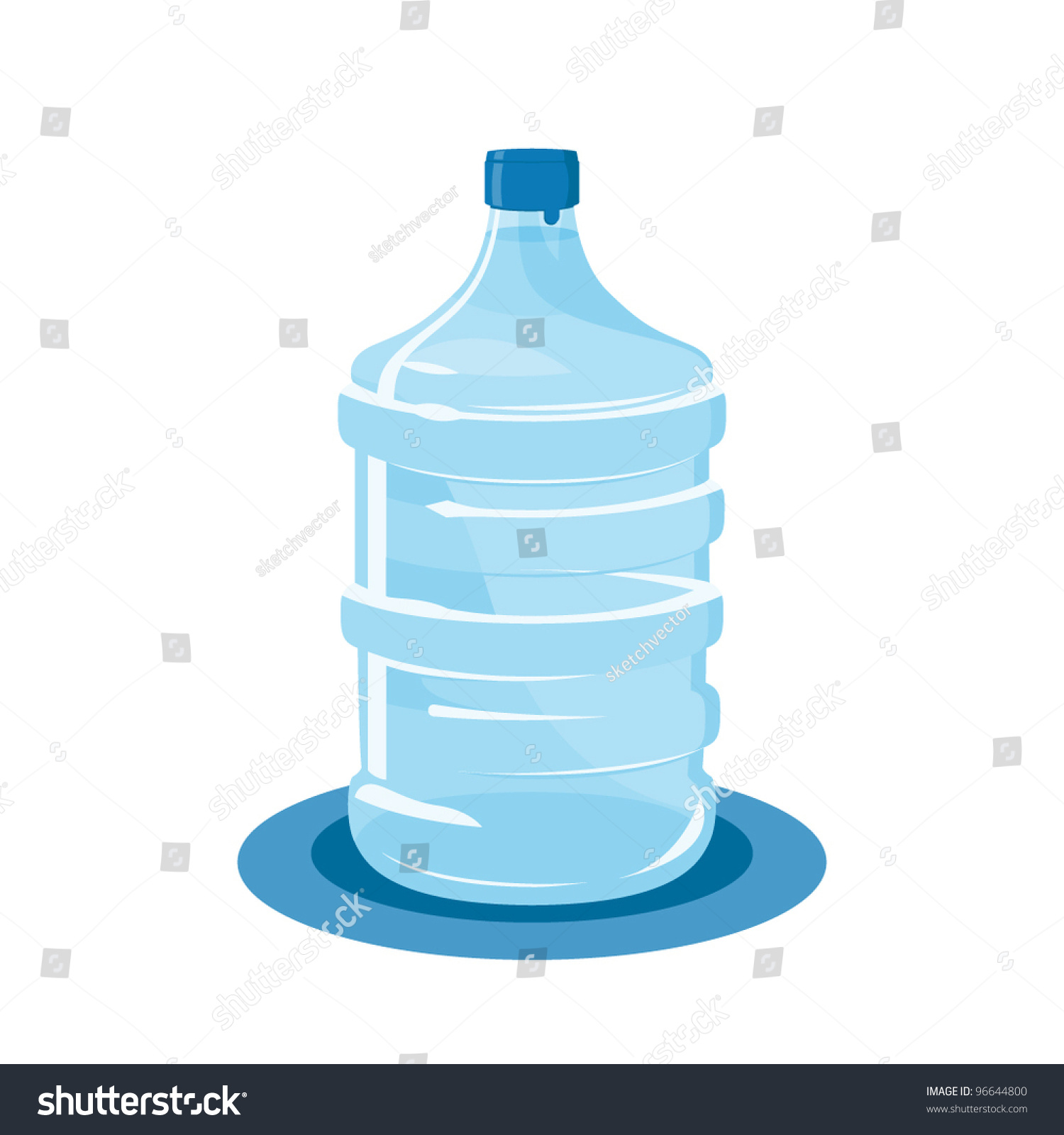 Water Bottle Vector: Mineral Water Bottle Isolated On White Stock Vector