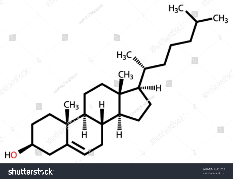 Cholesterol Structural Formula - 154.5KB