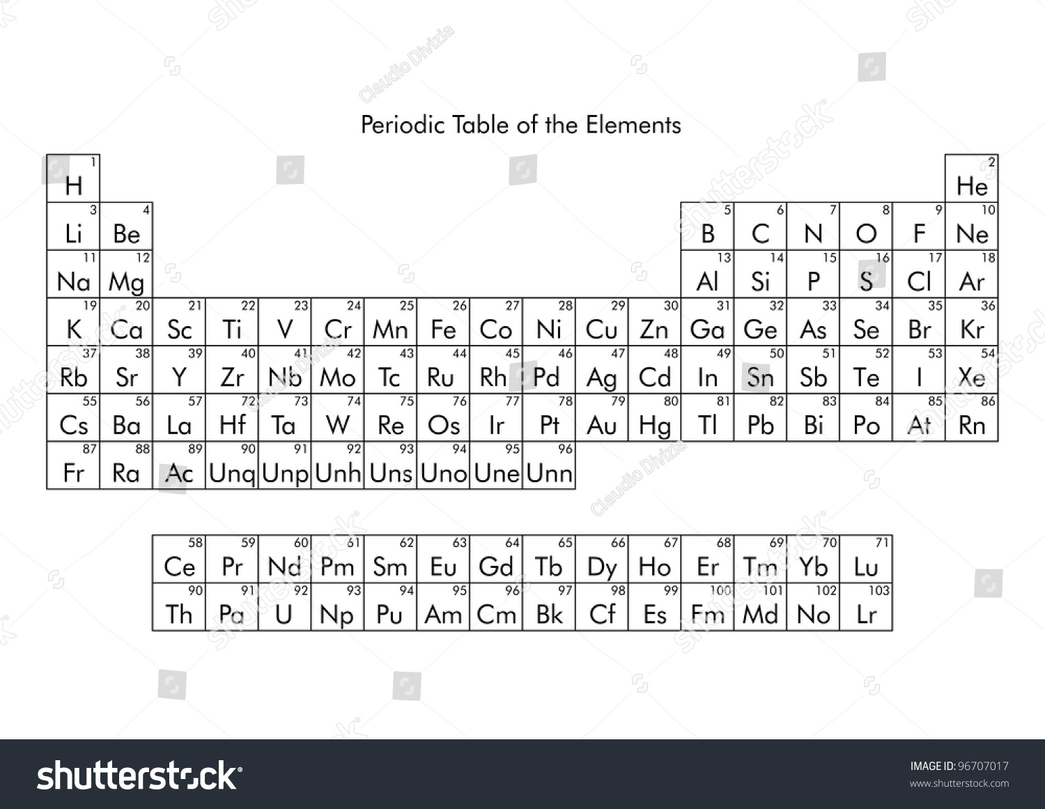 Periodic Table Elements Including Solid Liquid Stock Photo Edit Now