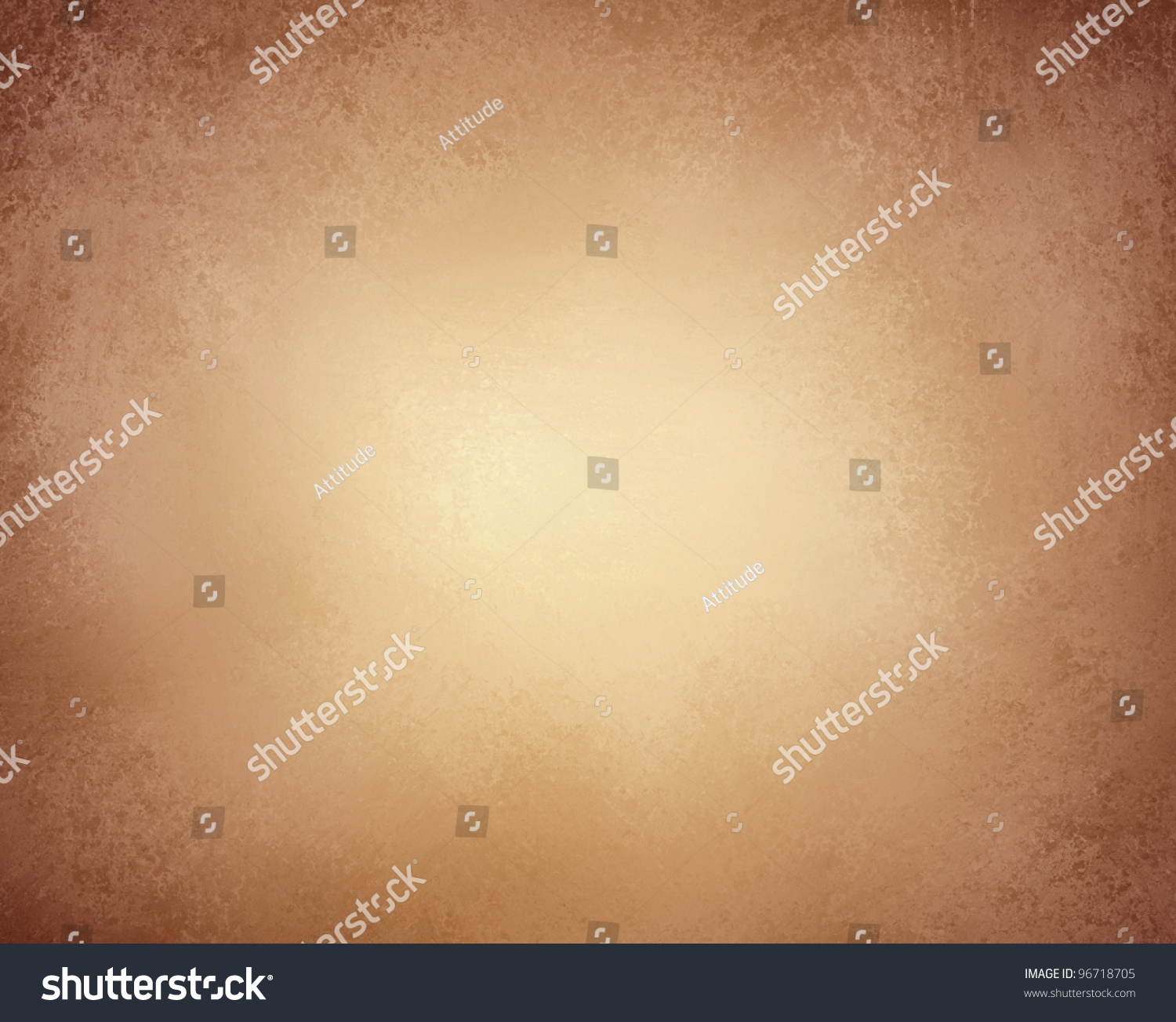 Light Brown Background Paper Or Old Stationary With Vintage Grunge Texture And Soft Faded Worn Black