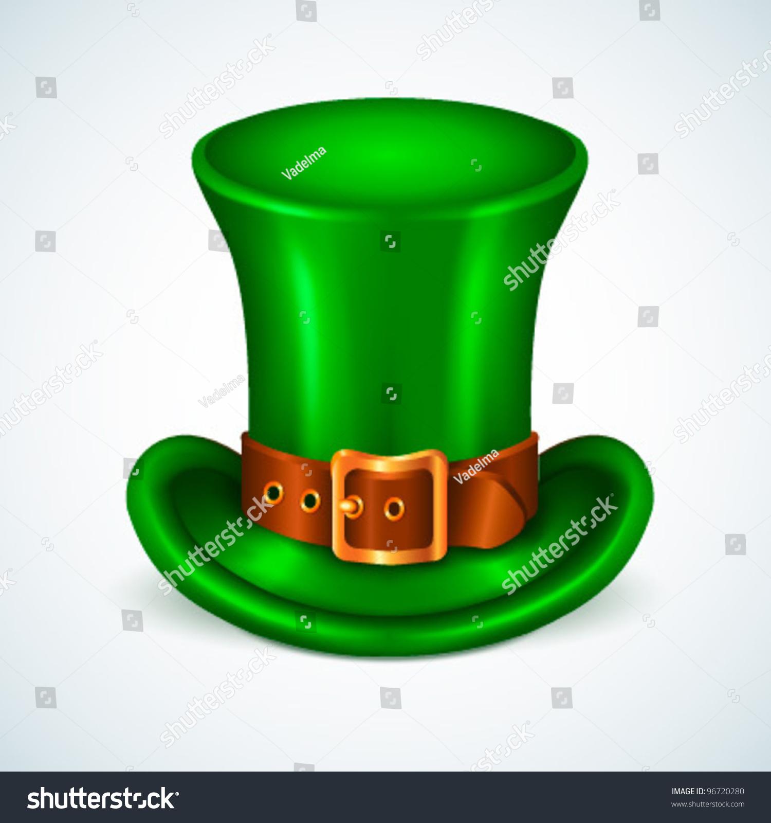 green st patricks day hat vector stock vector 96720280 shutterstock