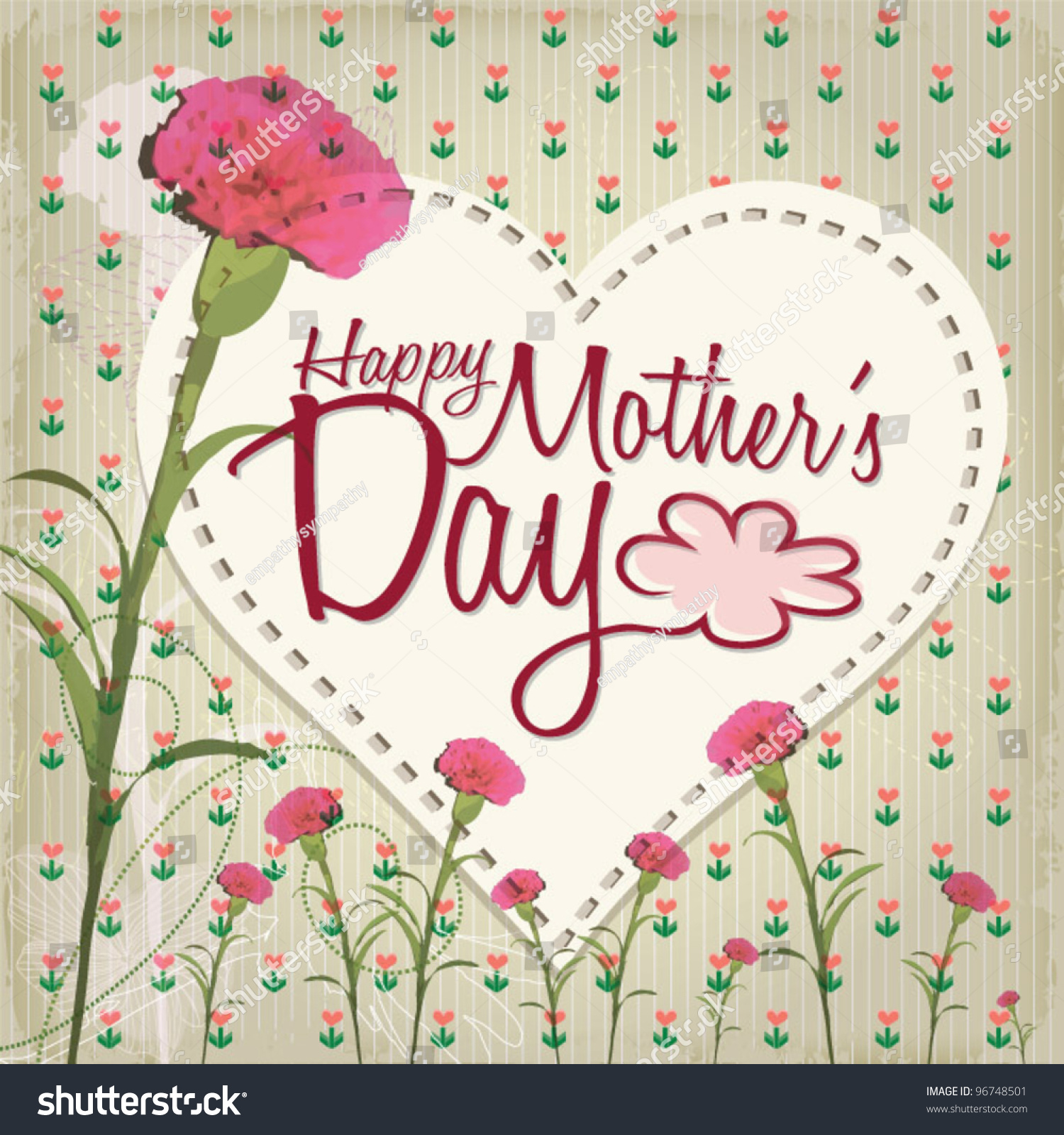 Happy mothers day lovely greeting card stock vector hd royalty free happy mothers day lovely greeting card m4hsunfo