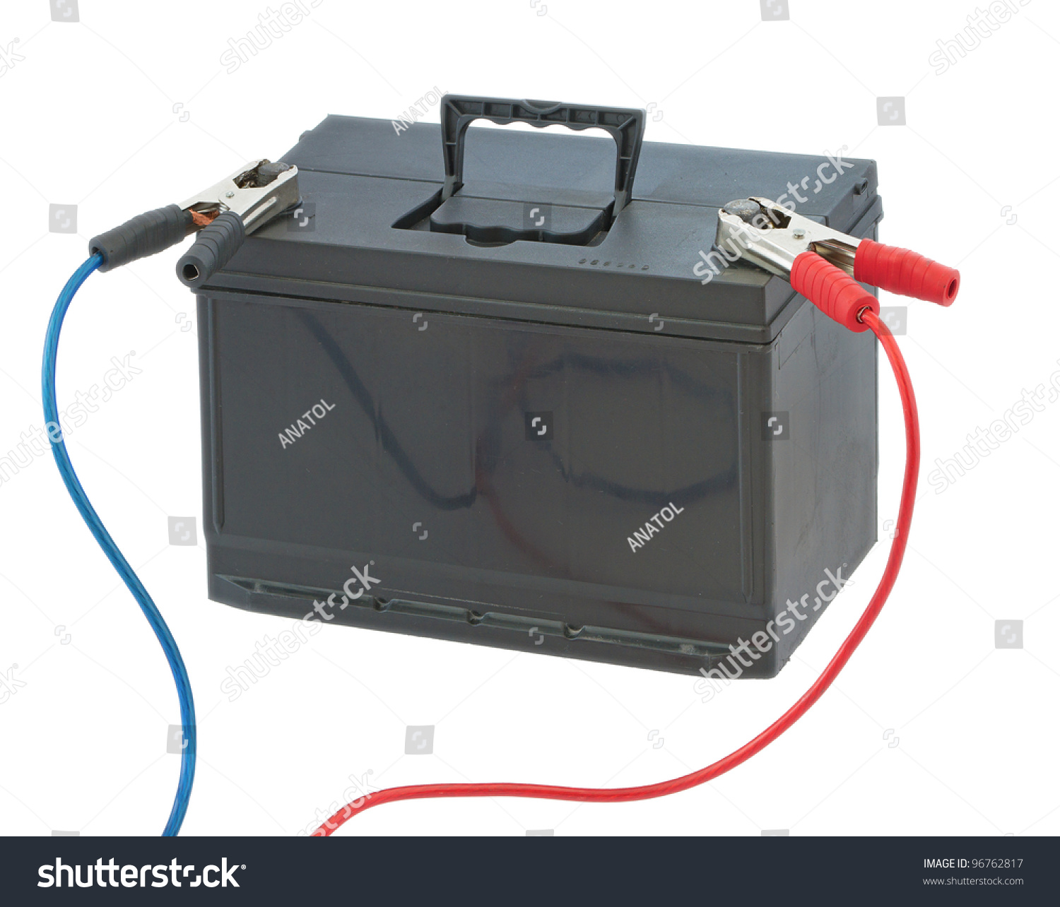 Car Battery Cables Both Positive Negative Stock Photo (Edit Now ...