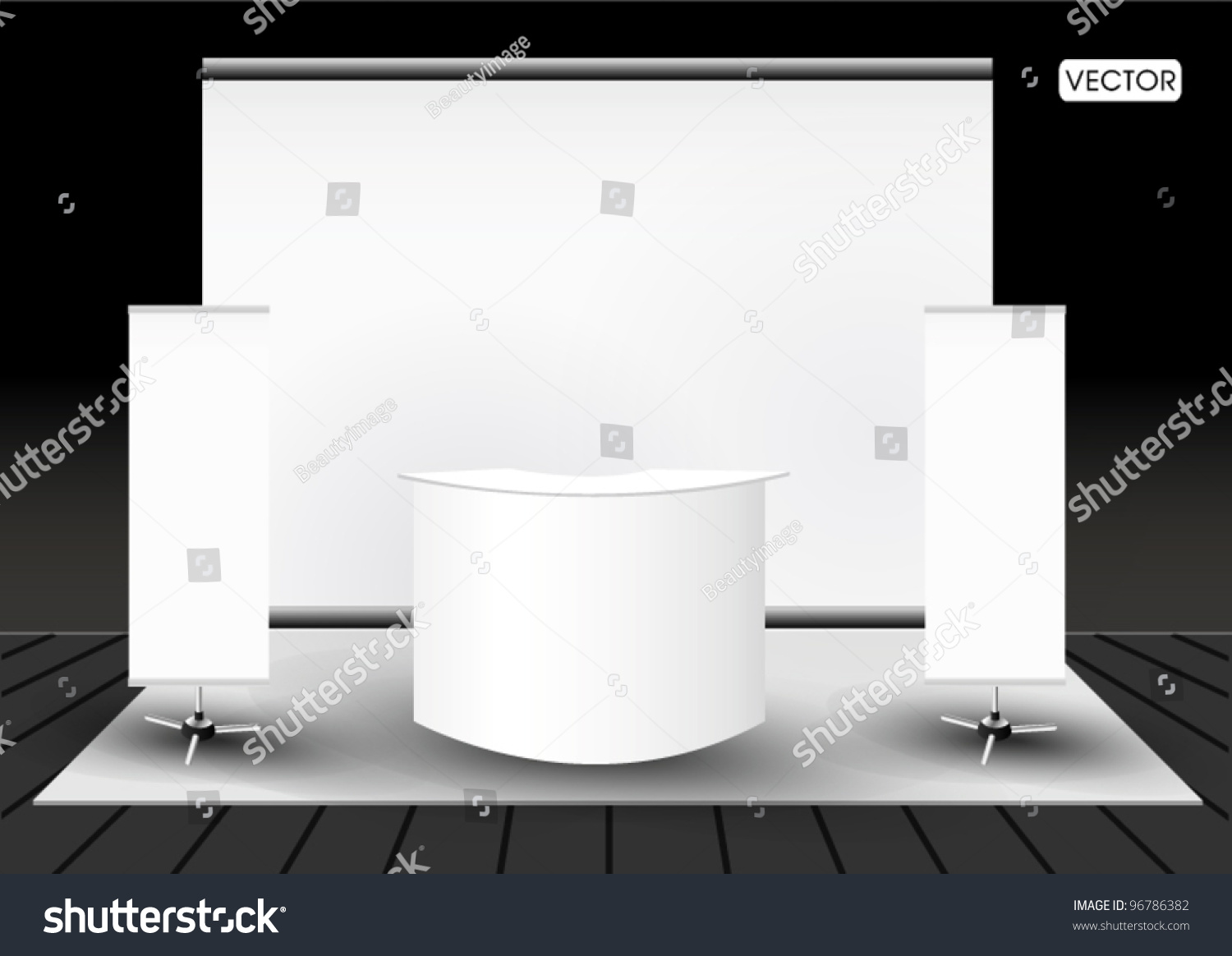 Blank Exhibition Stand Vector : Blank trade exhibition stand booth stock vector