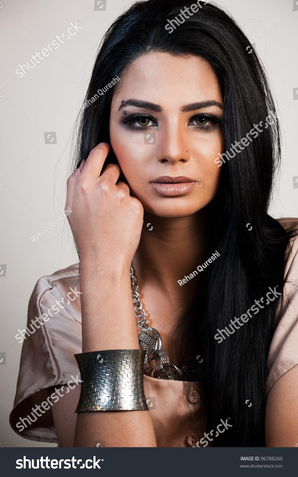 Mixed race fashion models