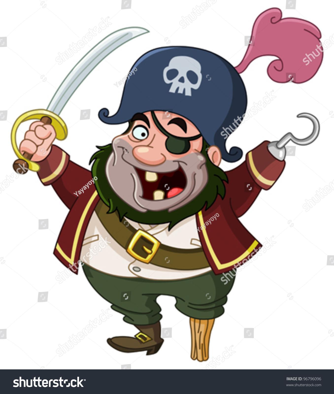 Cartoon Pirate Stock Vector 96796096 - Shutterstock