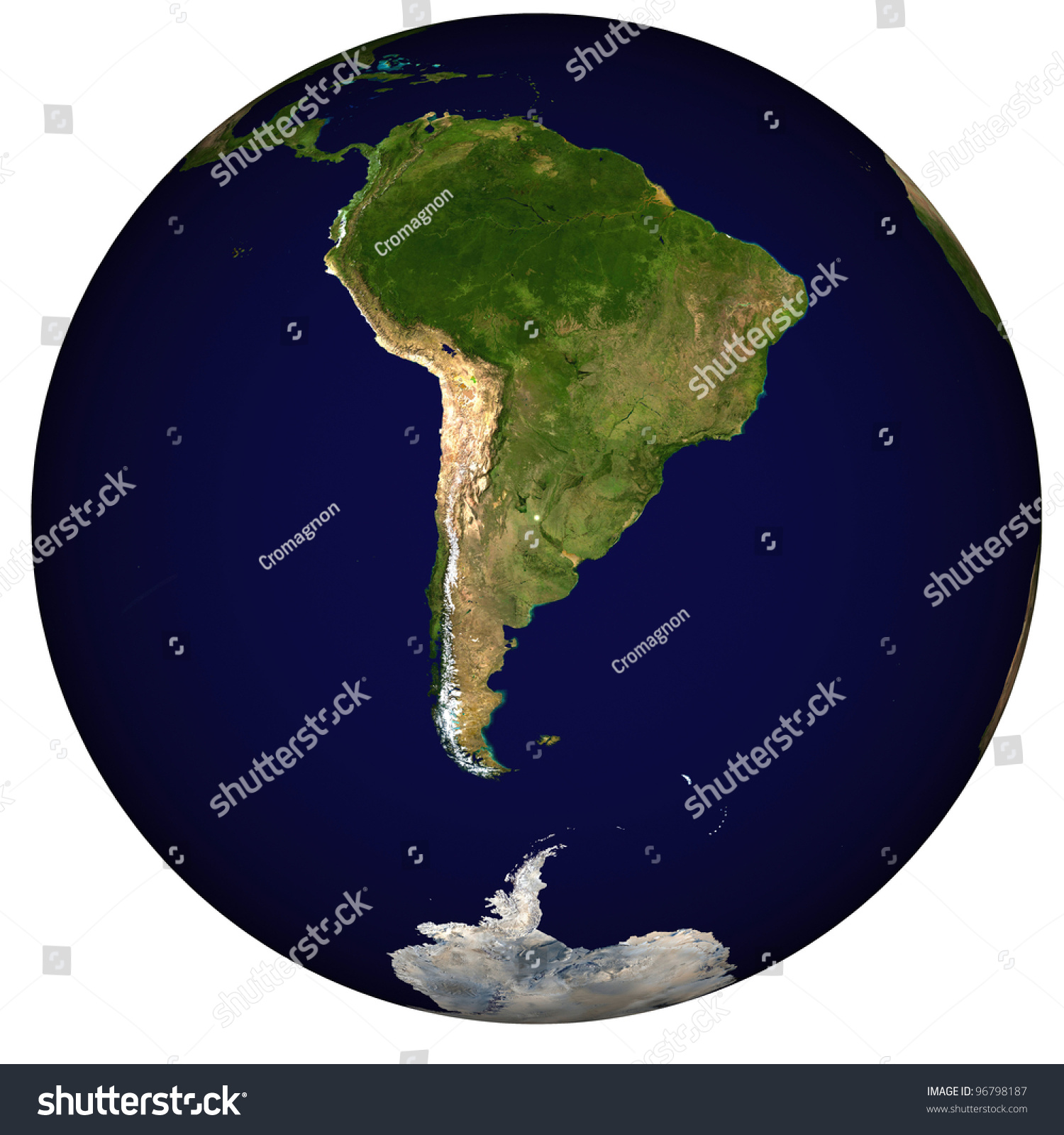 View On Earth Centered On Argentina Stock Illustration - Argentina globe map