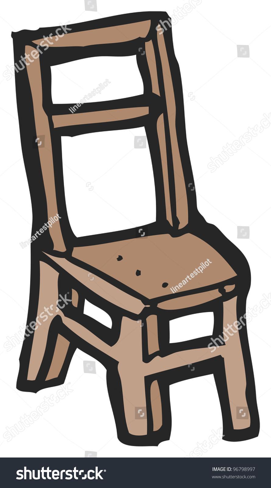 Wooden chair cartoon stock photo shutterstock