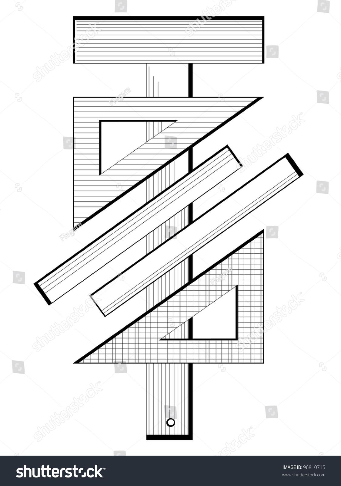 Engineering Measuring Instruments : Measuring instruments engineering symbol stock vector
