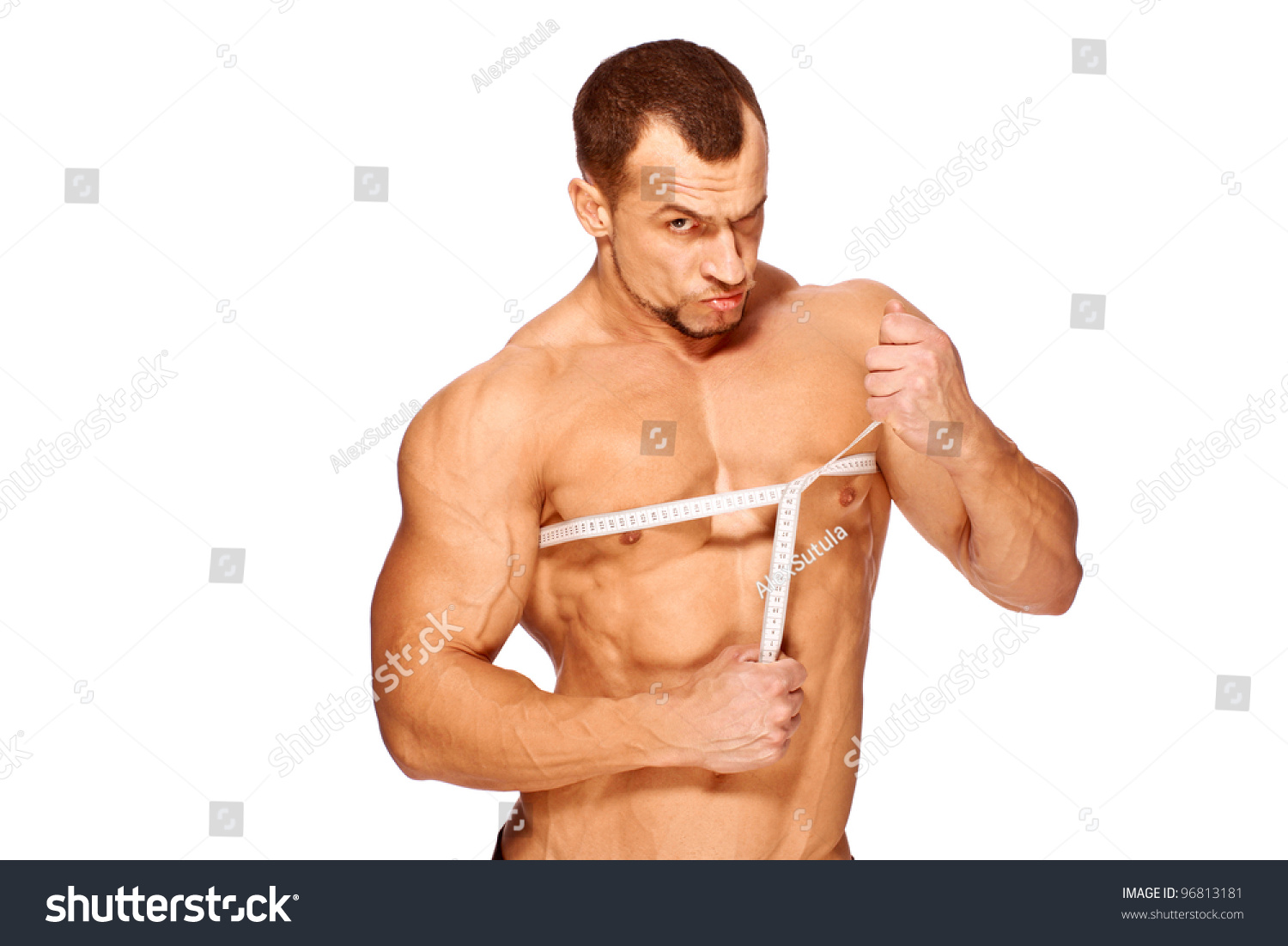Muscular Tanned Male Body Parts Being Stock Photo Edit Now