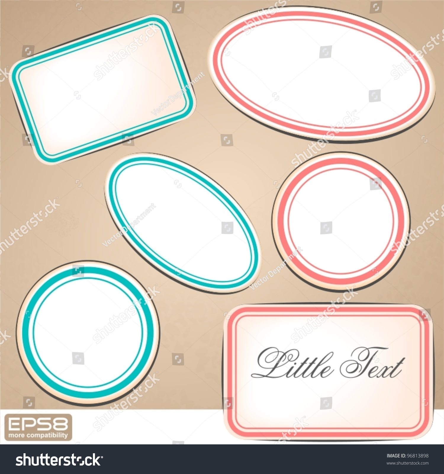 Blank Labels Stock Vector (Royalty Free) 96813898