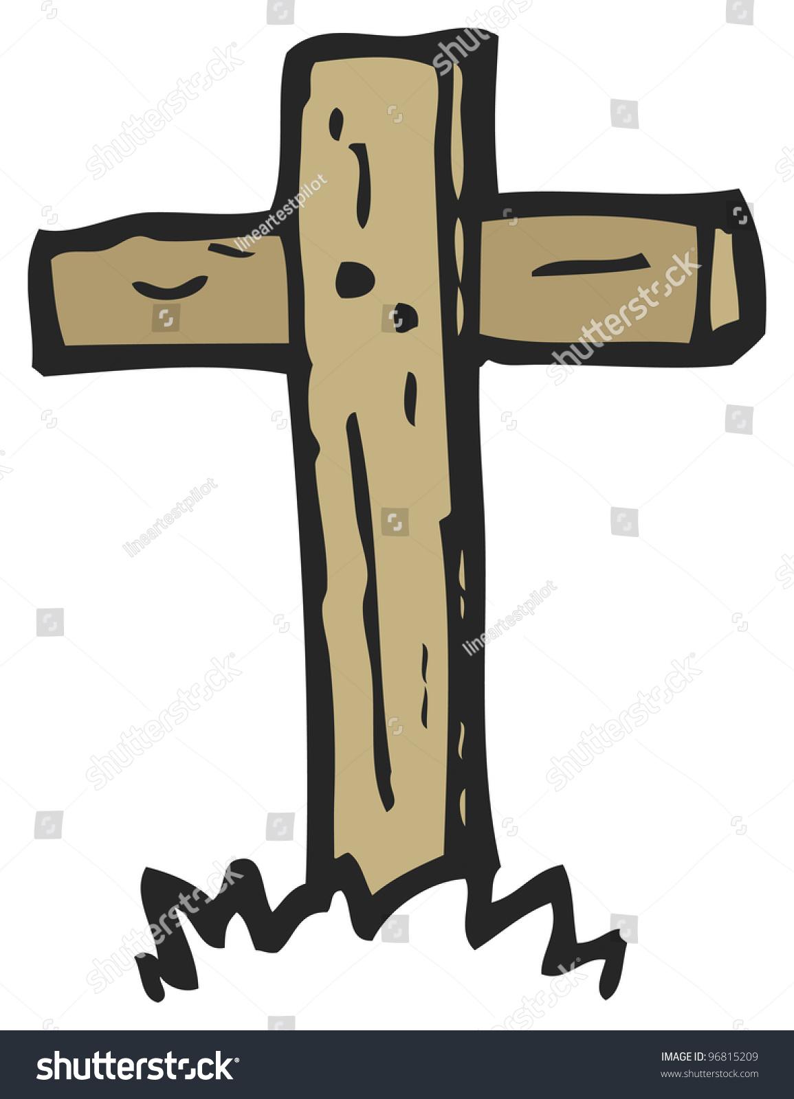 Wooden Cross Cartoon S...
