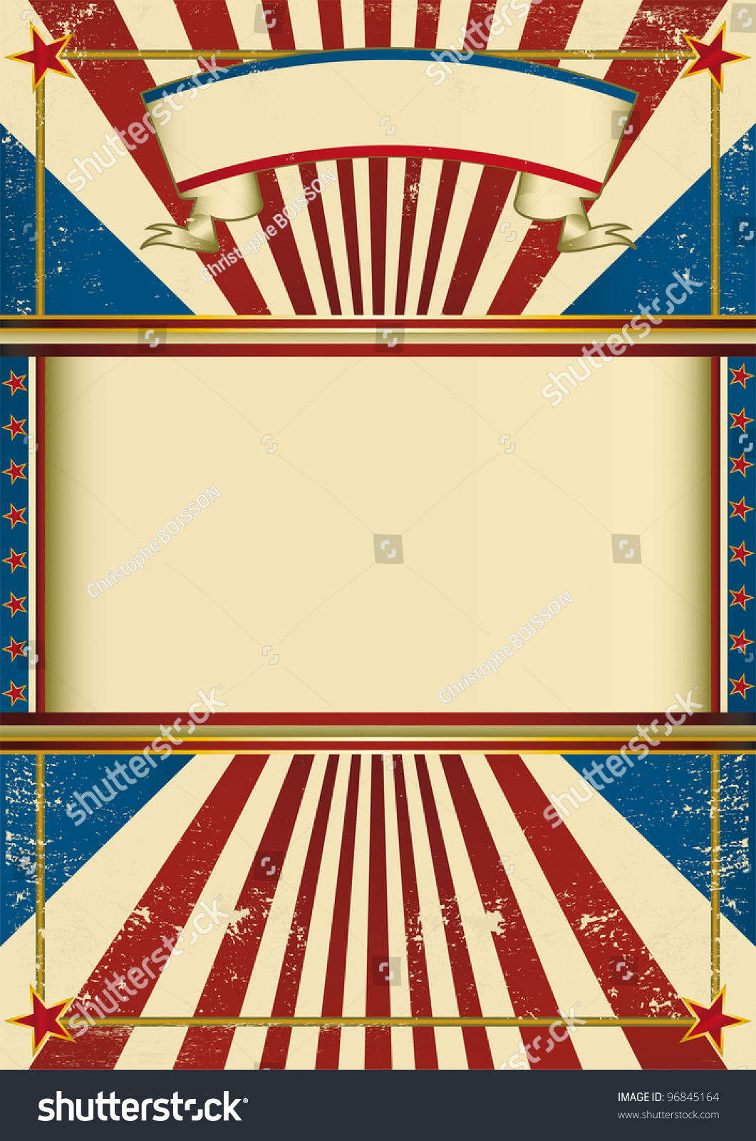 Vintage Poster Circus. A Vintage Poster With A Grunge ...