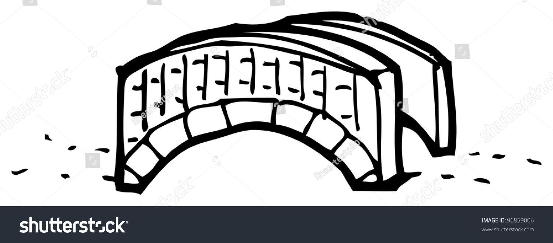Cartoon Bridge Stock Illustration 96859006 Shutterstock