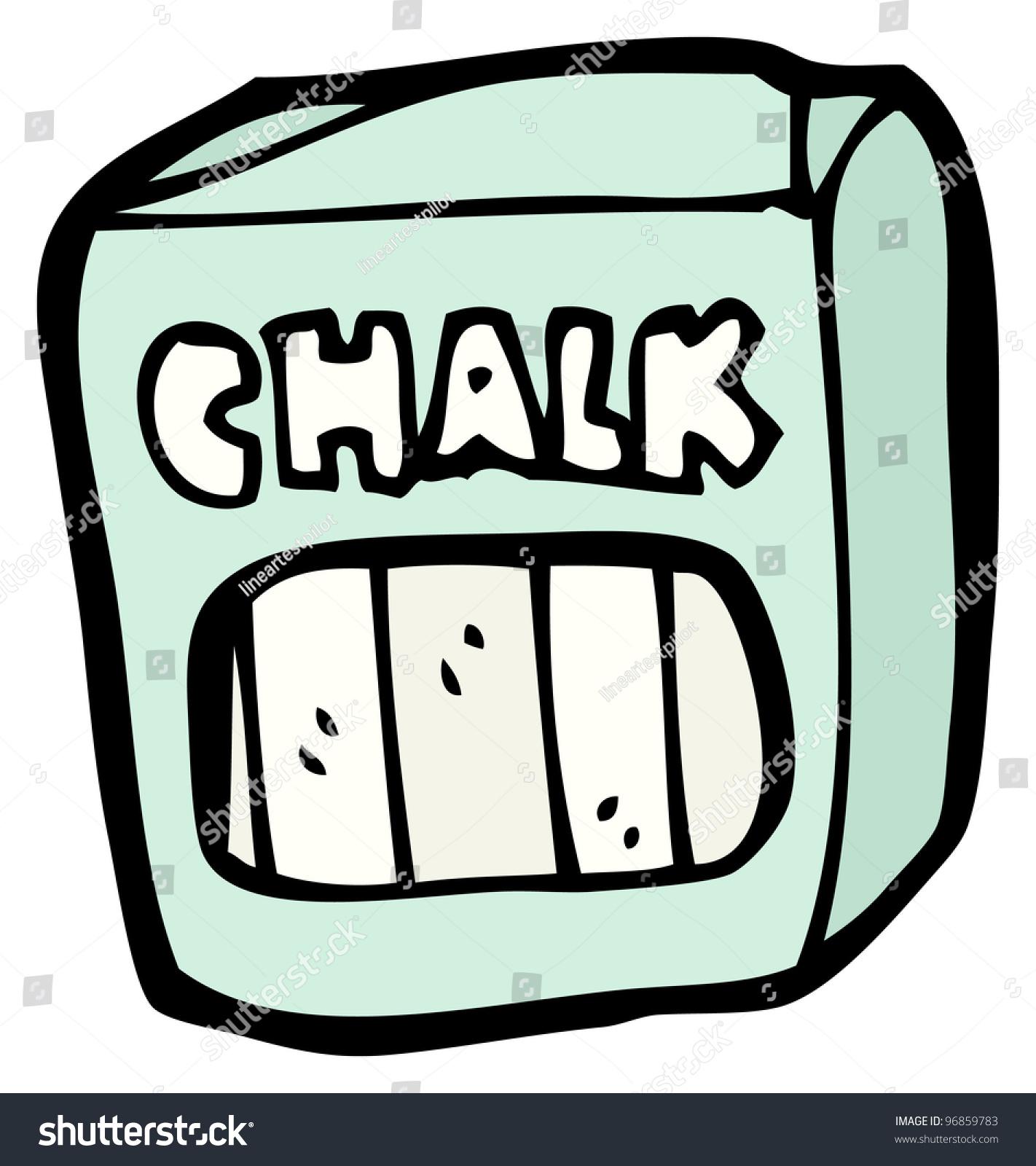 Cartoon Chalk Stock Illustration 96859783 Shutterstock