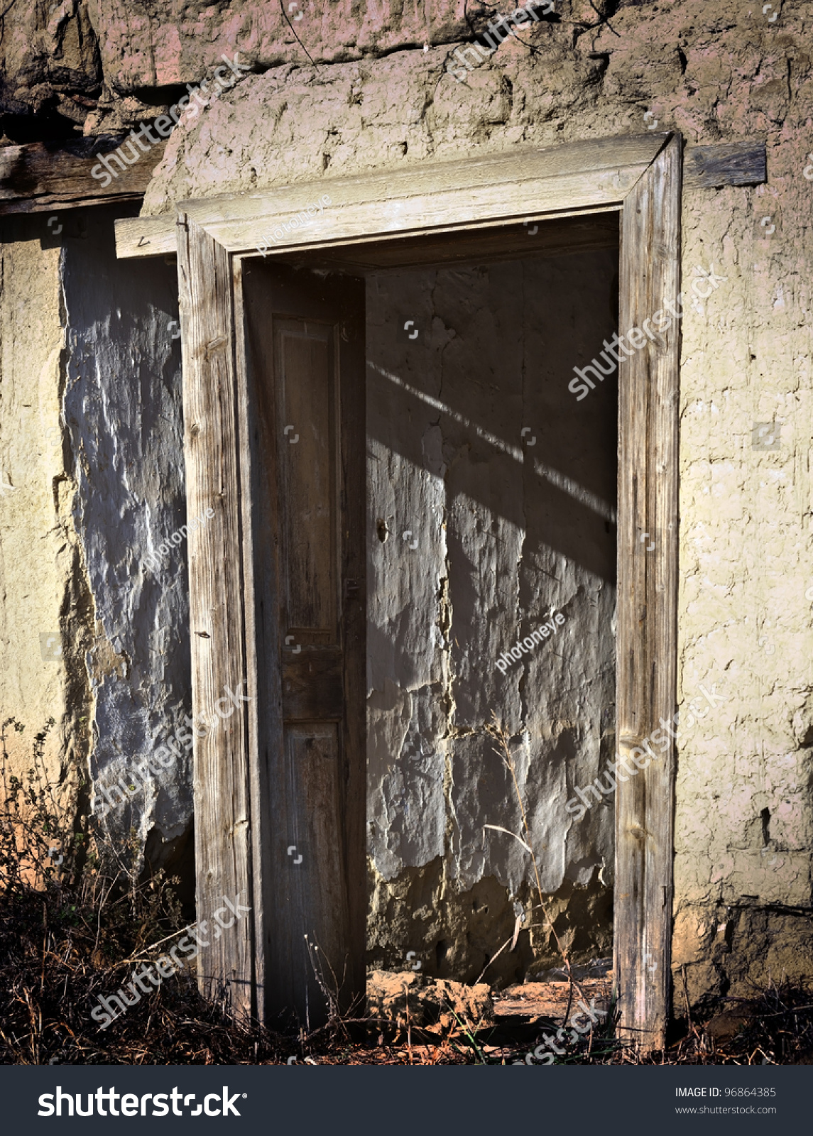 Old Abandoned Door Frame On Old Stock Photo Edit Now 96864385