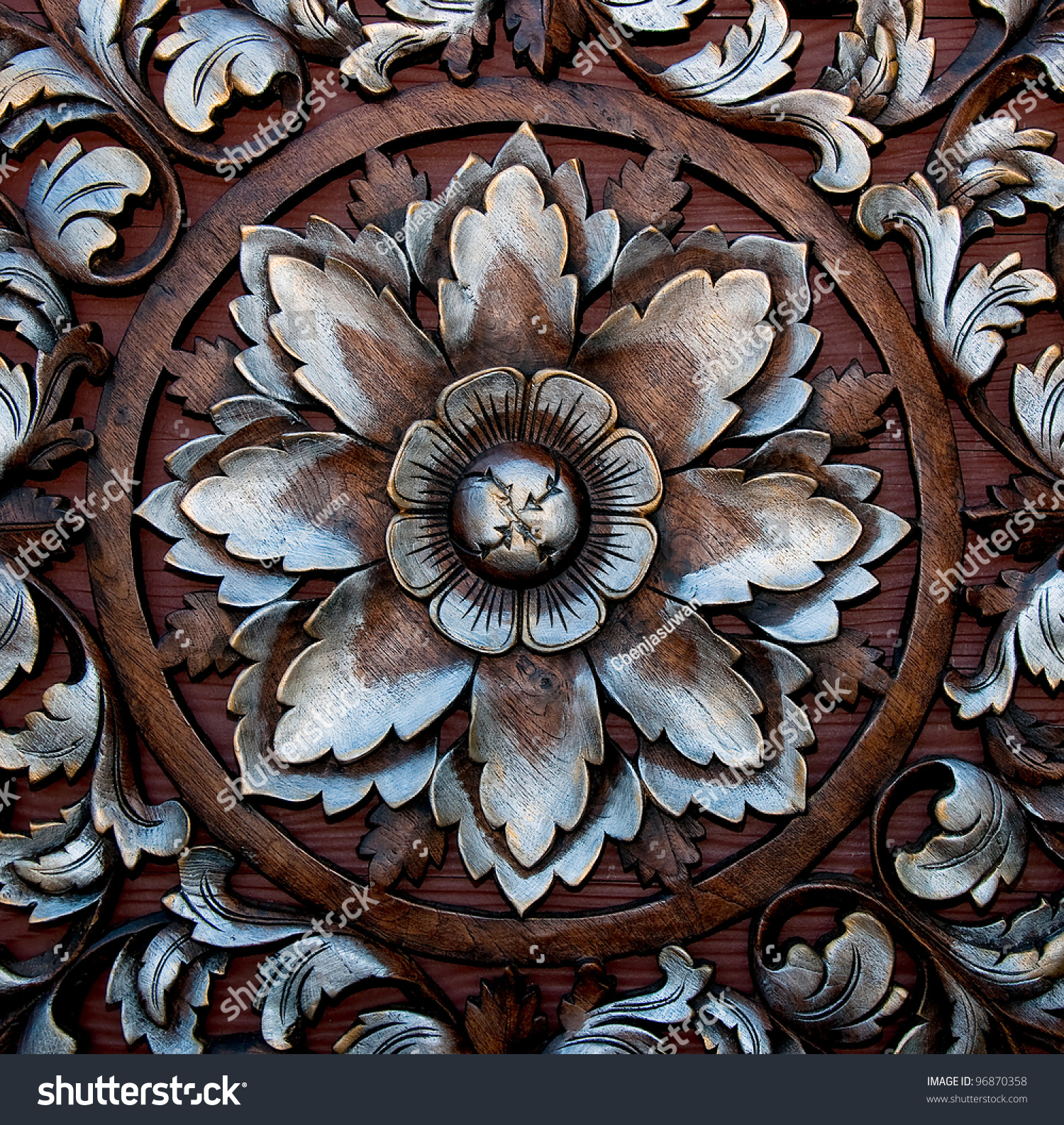 Flowers carved from wood ez canvas