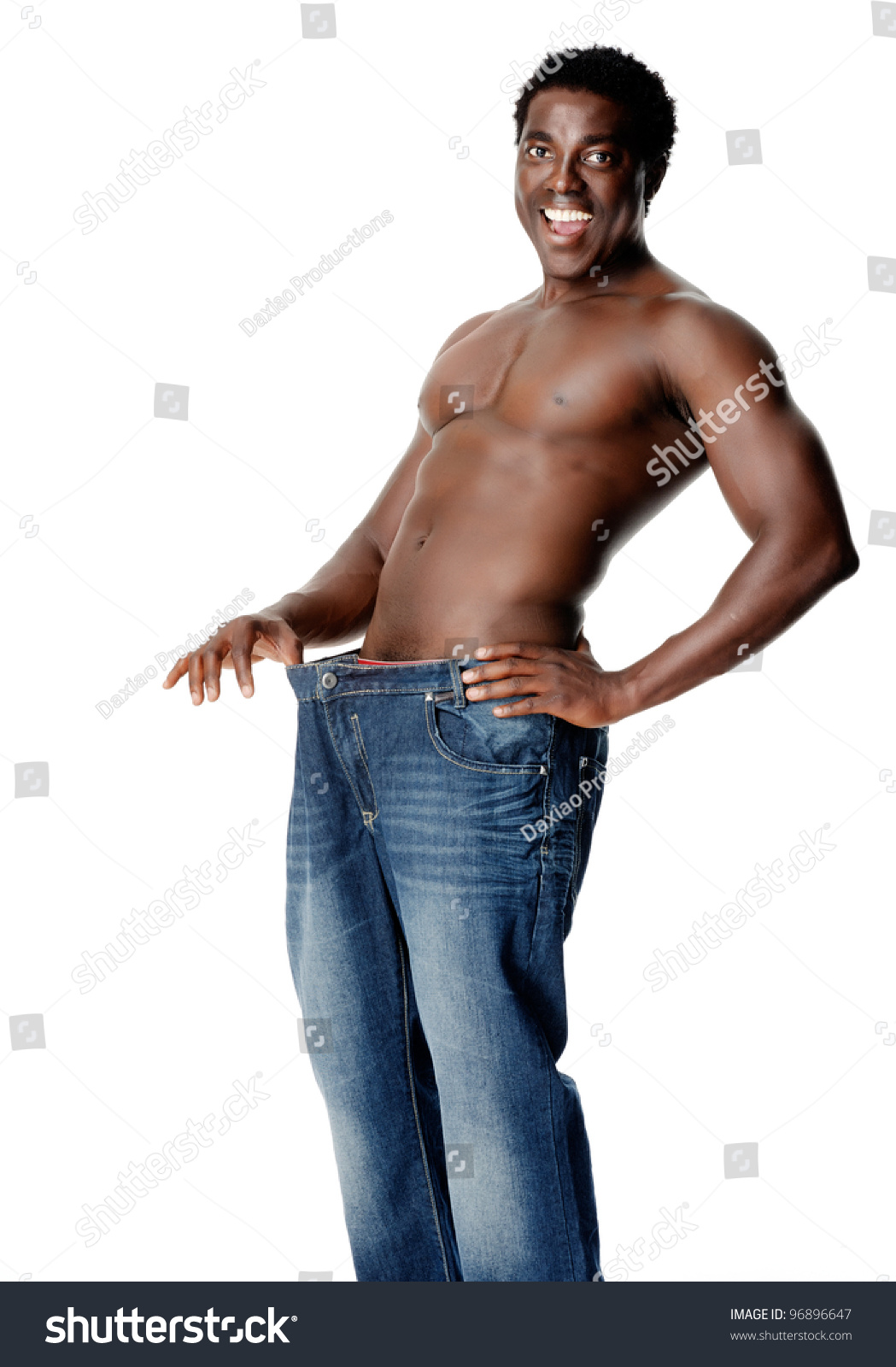 African man showing off his huge tool to the ladies 6