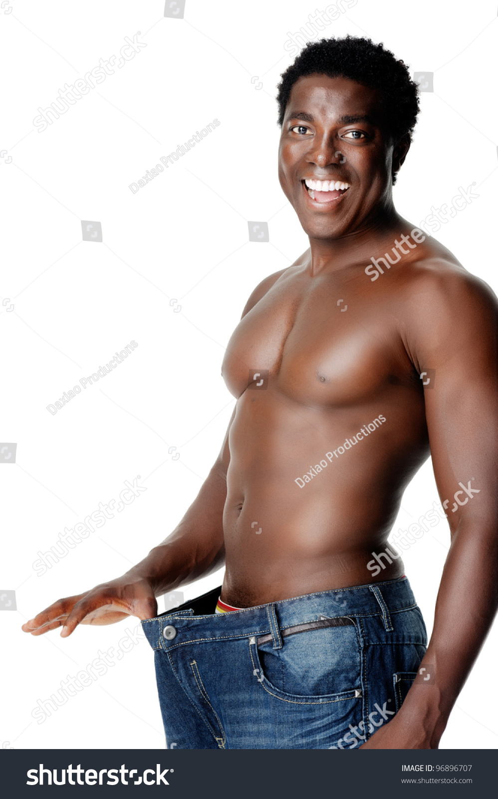 African man showing off his huge tool to the ladies 8