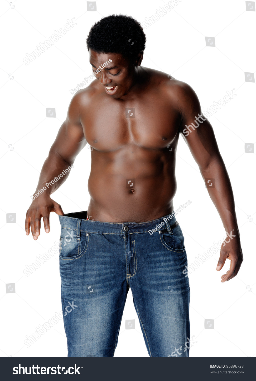 African man showing off his huge tool to the ladies 9
