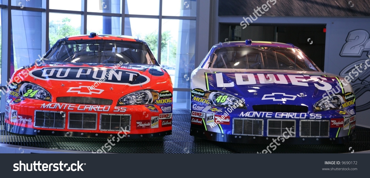 Jeff Gordon And Jimmy Johnson Nascar Chevy Racing Cars Stock Photo ...